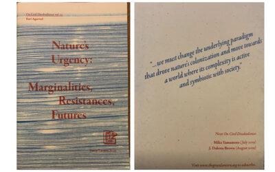 Nature's Urgency: Marginalisations, Resistances, Futures (Green Lantern Press, Chicago, June 2019)